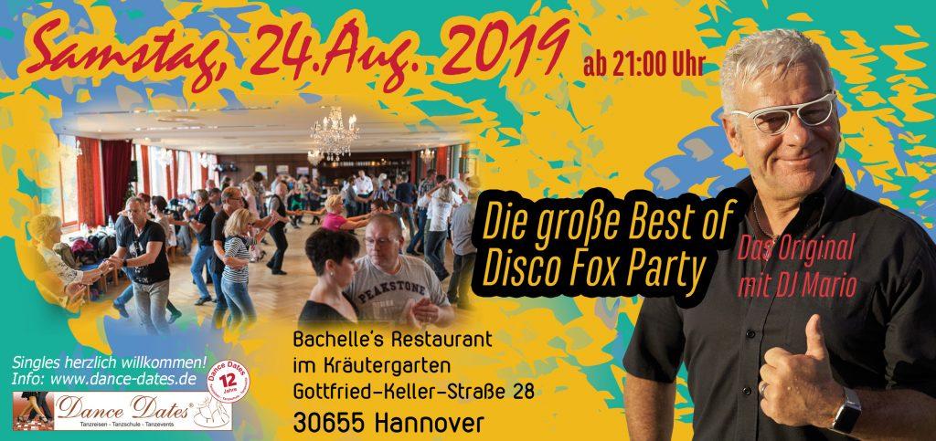 Die grosse Best of Disco Fox Party – Das Original @ Bachelle´s Restaurant im Kräutergarten | Hannover | Niedersachsen | Deutschland