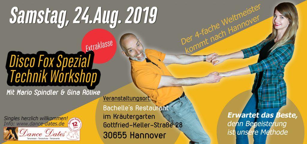 Disco Fox Spezial Technik Workshop der Extraklasse @ Bachelle´s Restaurant im Kräutergarten | Hannover | Niedersachsen | Deutschland