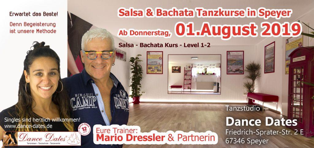 LAUFENDER KURS: Salsa & Bachata Tanzkurse für Beginner & leicht Fortgeschrittene in Speyer @ Tanzstudio Dance Dates | Speyer | Rheinland-Pfalz | Deutschland