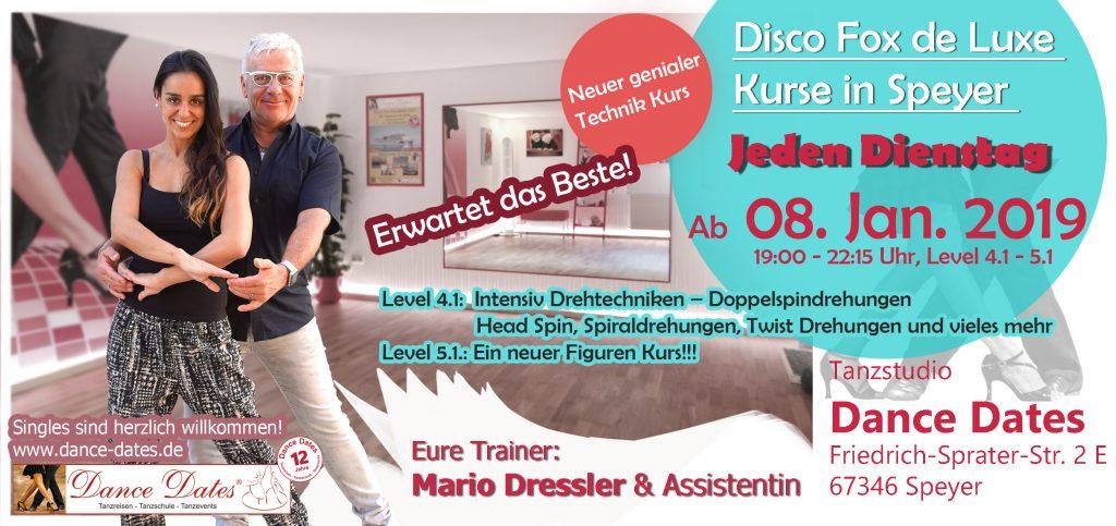 LAUFENDER KURS: Disco Fox de Luxe Kurse in Speyer @ Tanzstudio Dance Dates | Speyer | Rheinland-Pfalz | Deutschland