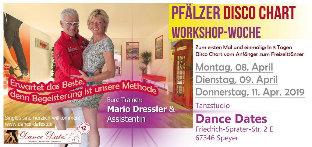 Pfälzer Disco Chart Workshop Woche 2019 in Speyer @ Tanzstudio Dance Dates | Speyer | Rheinland-Pfalz | Deutschland
