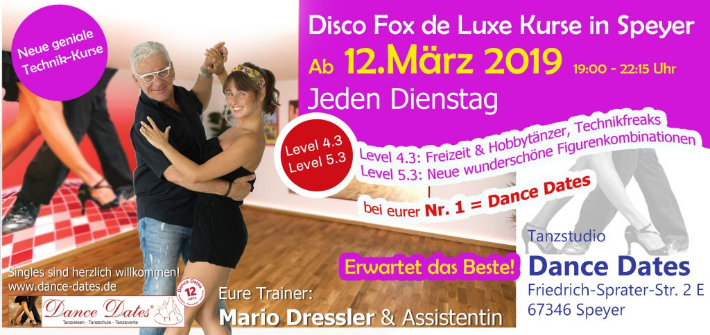 START: Disco Fox de Luxe Kurse in Speyer @ Tanzstudio Dance Dates | Speyer | Rheinland-Pfalz | Deutschland