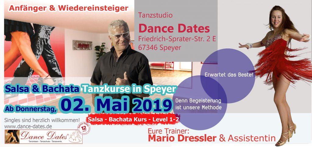 LAUFENDER KURS: Salsa & Bachata Tanzkurse für Beginner & Anfänger mit leichten Vorkenntnissen in Speyer @ Tanzstudio Dance Dates | Speyer | Rheinland-Pfalz | Deutschland