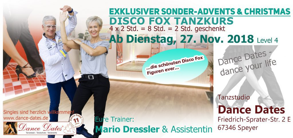START: Exklusiver Sonder-Advents-Christmas Disco Fox Tanzkurs @ Tanzstudio Dance Dates | Speyer | Rheinland-Pfalz | Deutschland