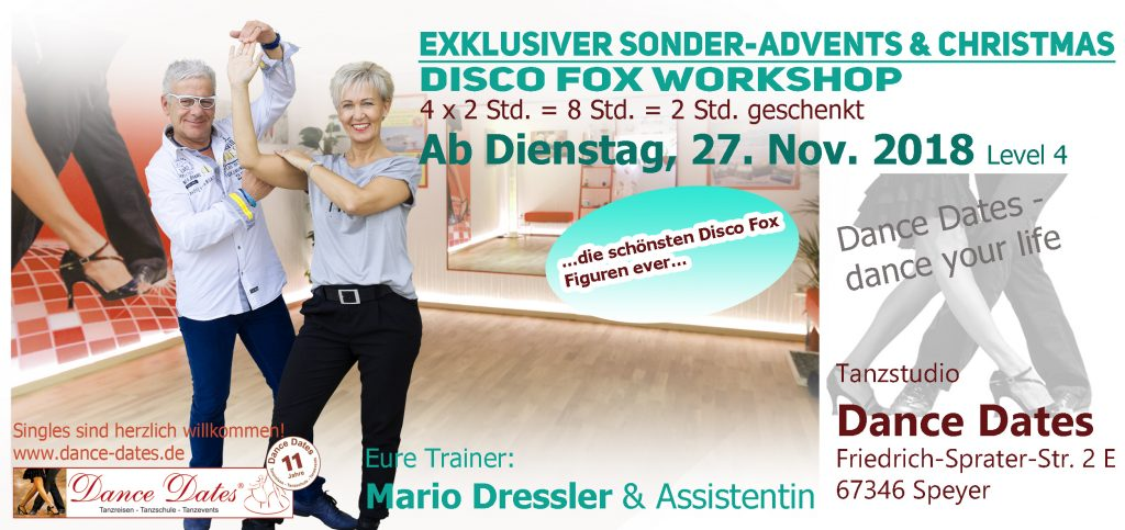 LAUFENDER KURS: Exklusiver Sonder-Advents-Christmas Disco Fox Workshop