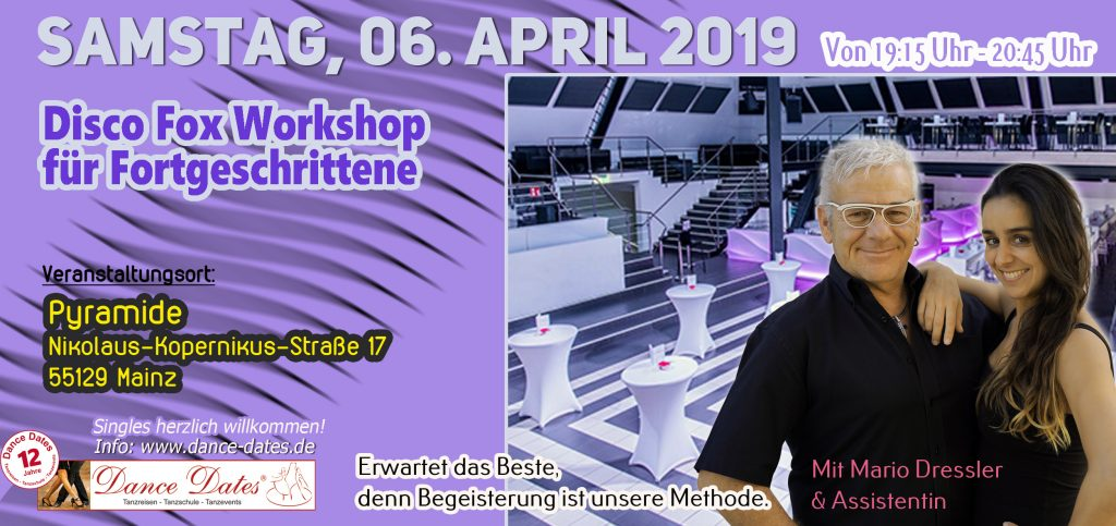 Disco Fox Workshop für Fortgeschrittene in Mainz @ Pyramide Mainz