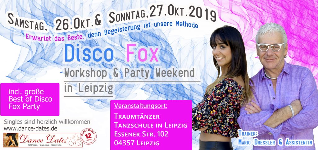 Disco Fox Workshop & Party Weekend in Leipzig @ Traumtänzer - Tanzschule in Leipzig