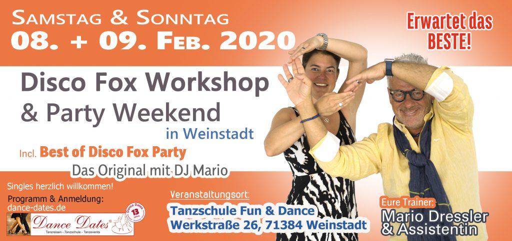 Disco Fox Workshop Weekend / Weinstadt