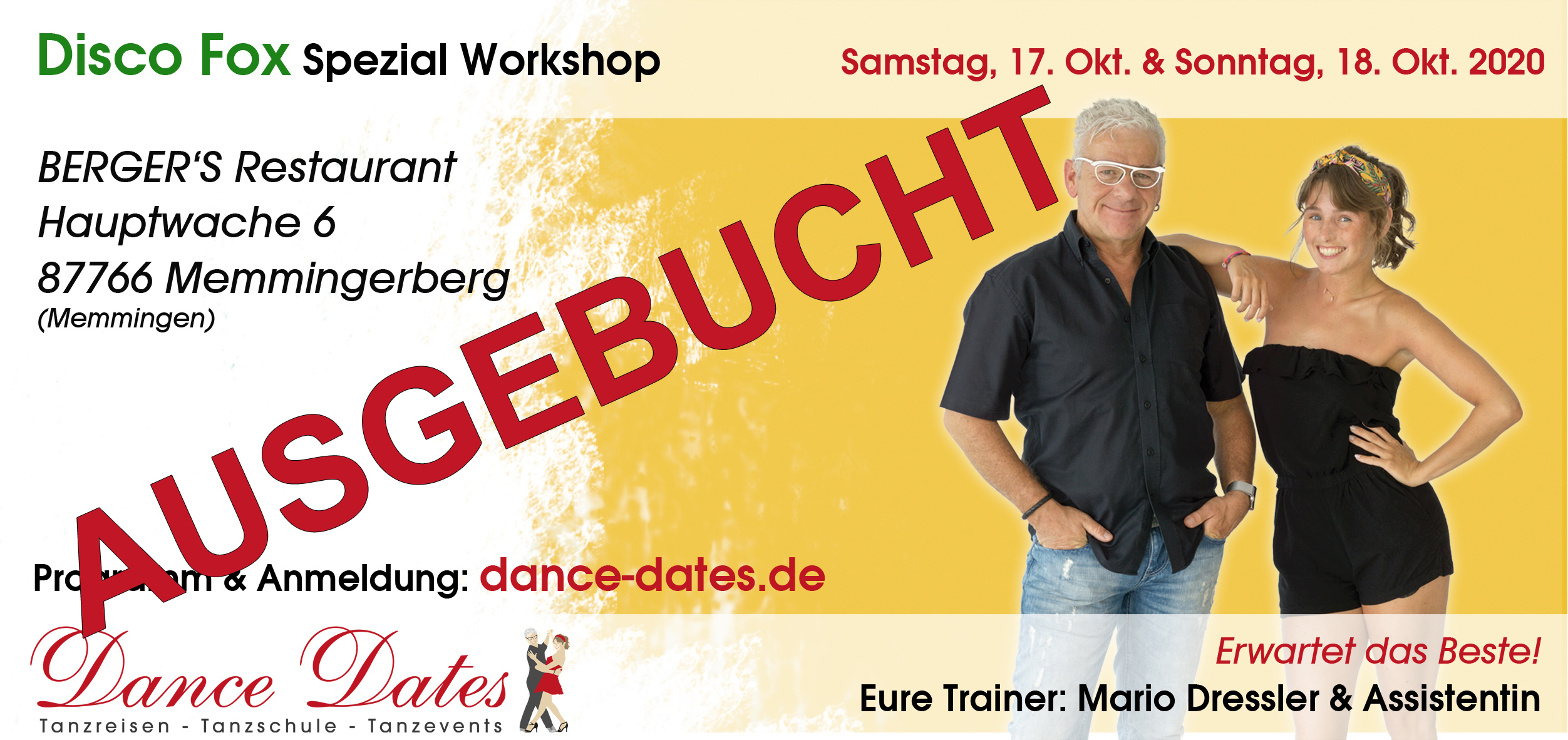 Disco Fox Spezial Workshop Weekend / Memmingen @ Berger's Airporthotel Memmingen