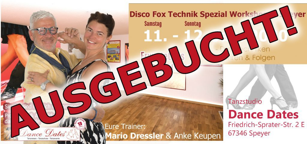 Disco Fox Technik Spezial Workshop Speyer