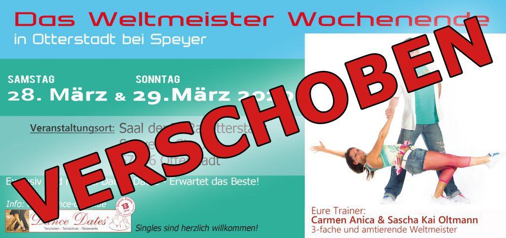 """<span style=""""color: red;"""">VERSCHOBEN!</span> Weltmeister Wochenende in Otterstadt bei Speyer"""