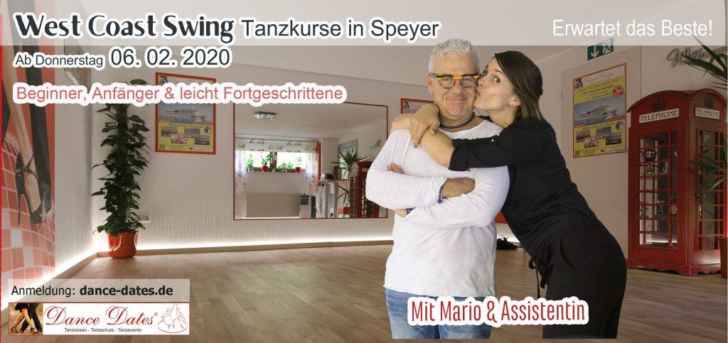 START: West Coast Swing Tanzkurse für Beginner & leicht Fortgeschrittene in Speyer @ Tanzstudio Dance Dates