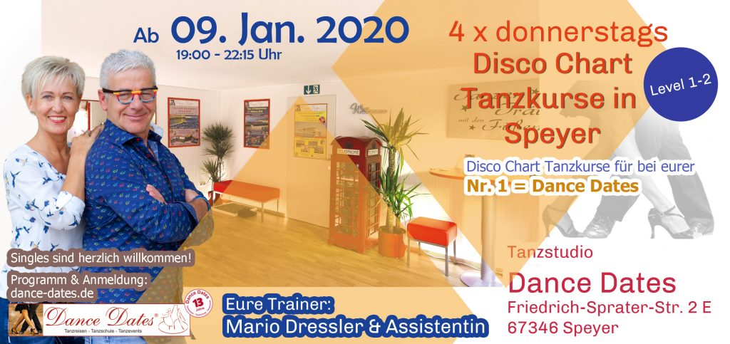 START: Disco Chart Tanzkurse in Speyer @ Tanzstudio Dance Dates