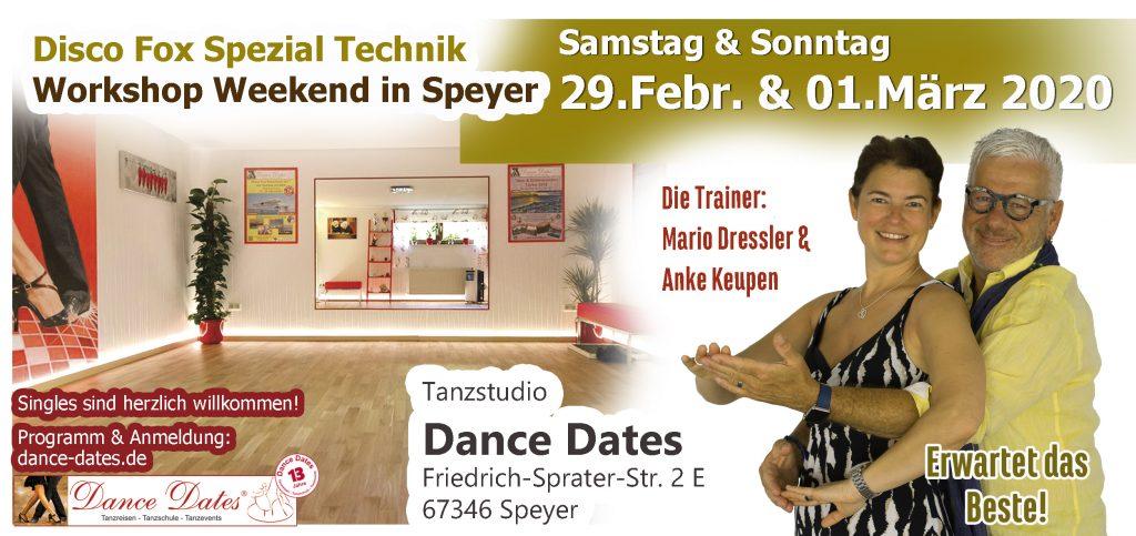 Disco Fox Spezial Technik Workshop Weekend in Speyer
