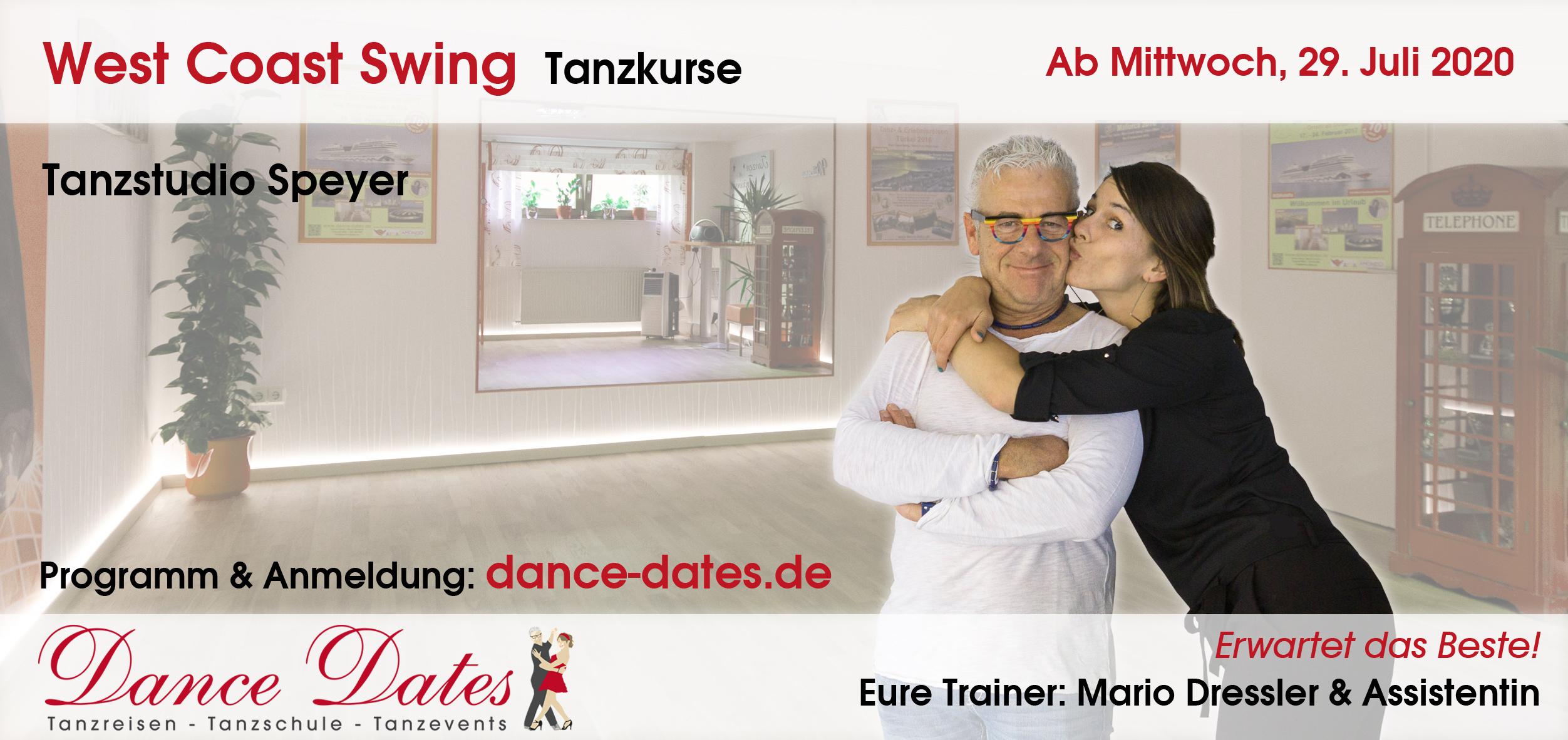 LAUFENDER KURS: West Coast Swing Tanzkurse für Beginner & leicht Fortgeschrittene in Speyer