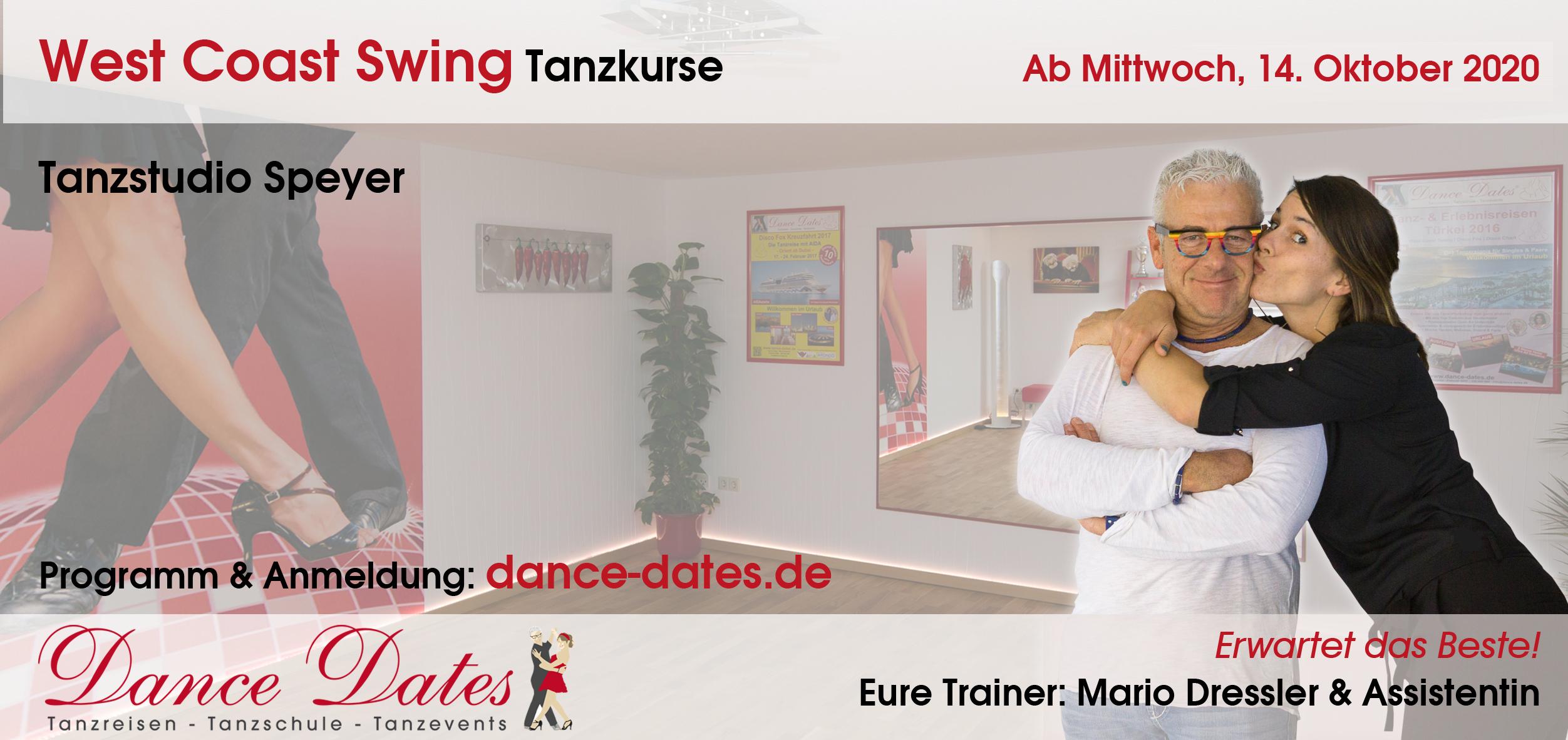LAUFENDER KURS: West Coast Swing Tanzkurse für Beginner & leicht Fortgeschrittene in Speyer @ Tanzstudio Dance Dates
