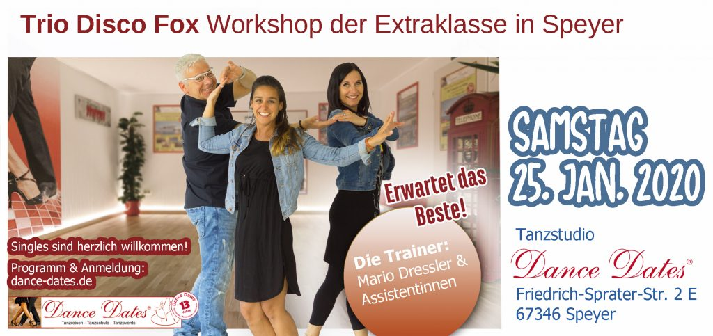 Trio Disco Fox Workshops der Extraklasse in Speyer