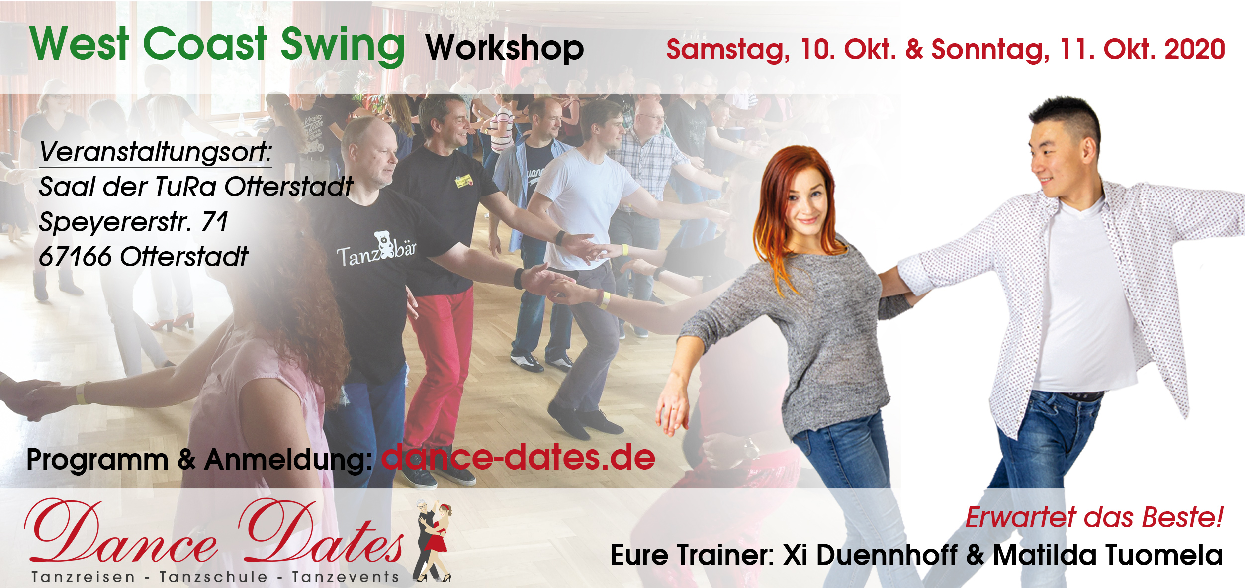 West Coast Swing Workshop Wochenende in Otterstadt