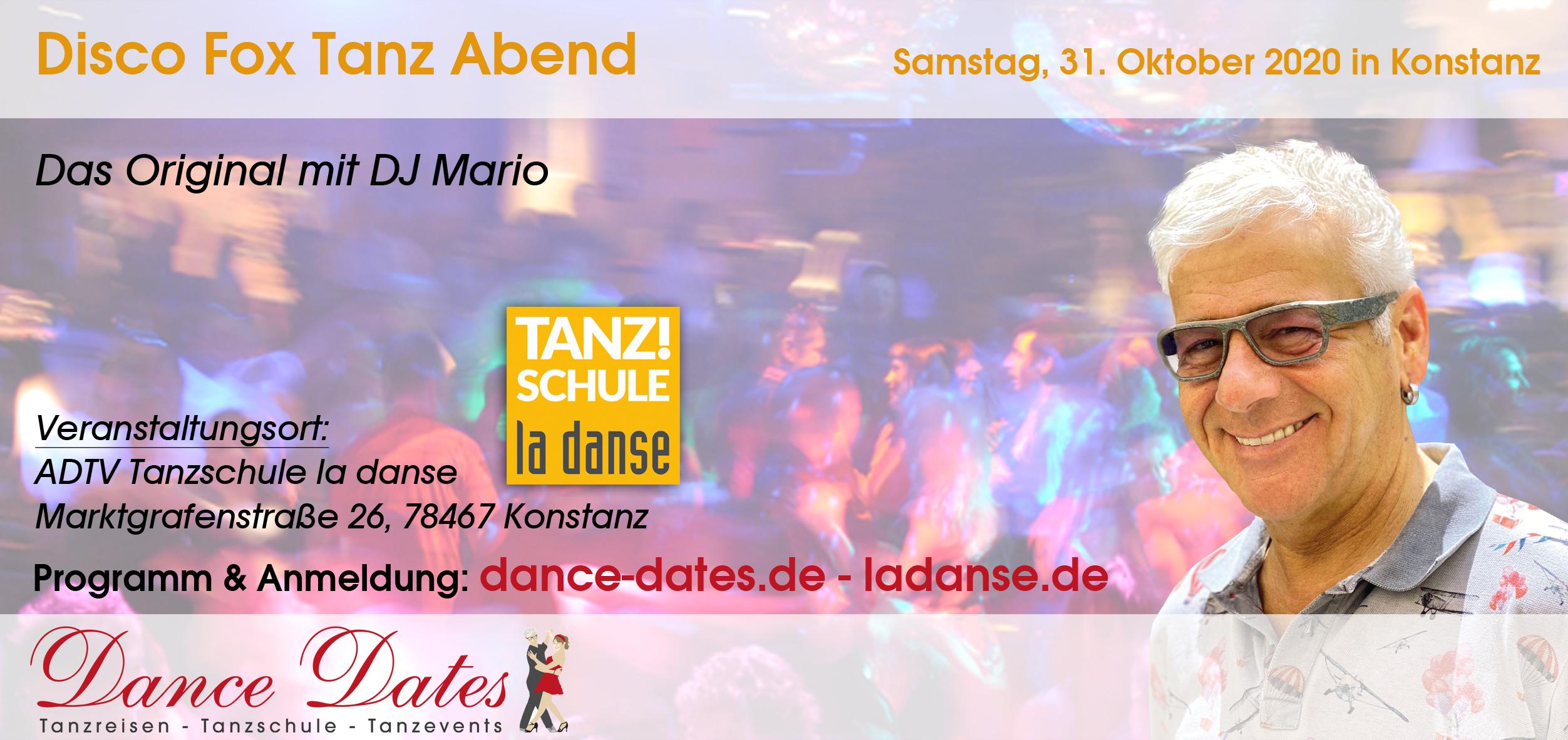 Disco Fox Tanz-Übungsabend – Das Original mit DJ Mario