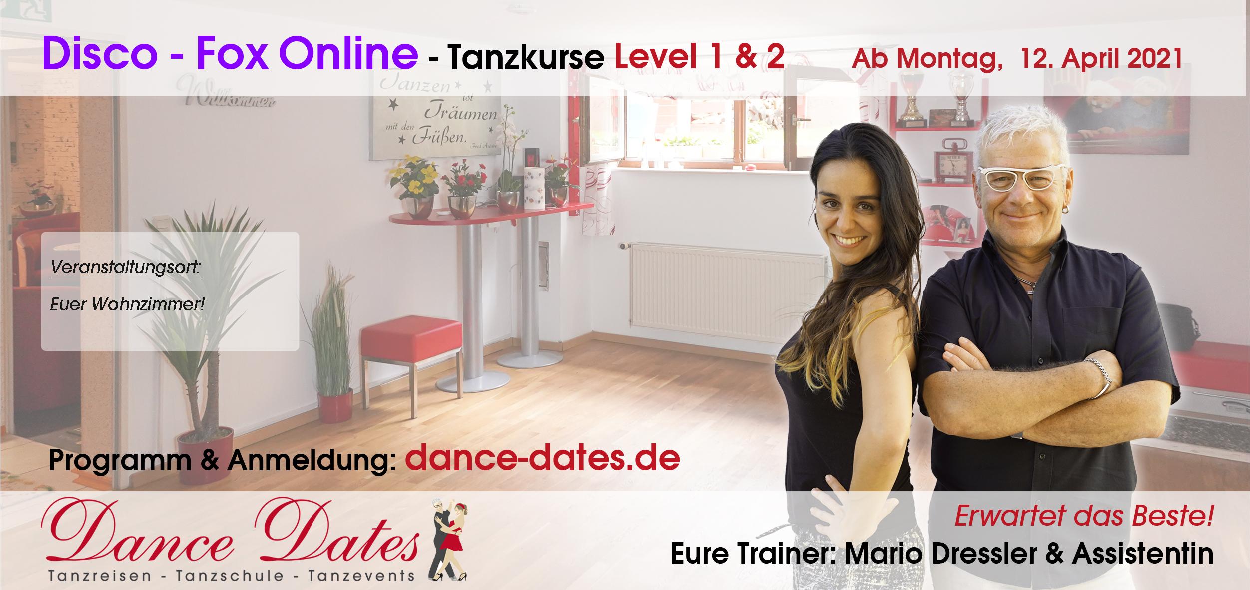 START: Disco-Fox-Tanzkurse ONLINE aus Speyer