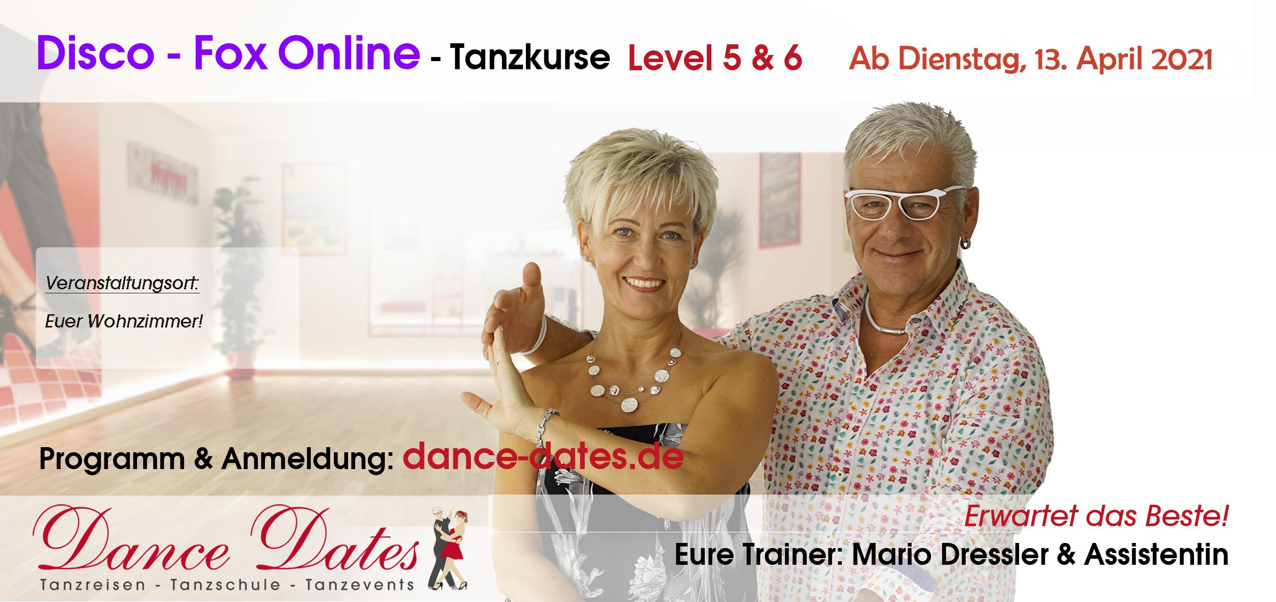 START: ONLINE-Disco-Fox-Tanzkurse aus Speyer