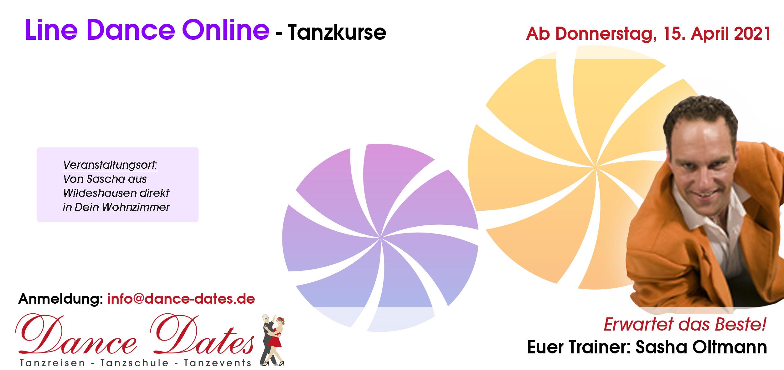 START: ONLINE-Line Dance-Tanzkurs