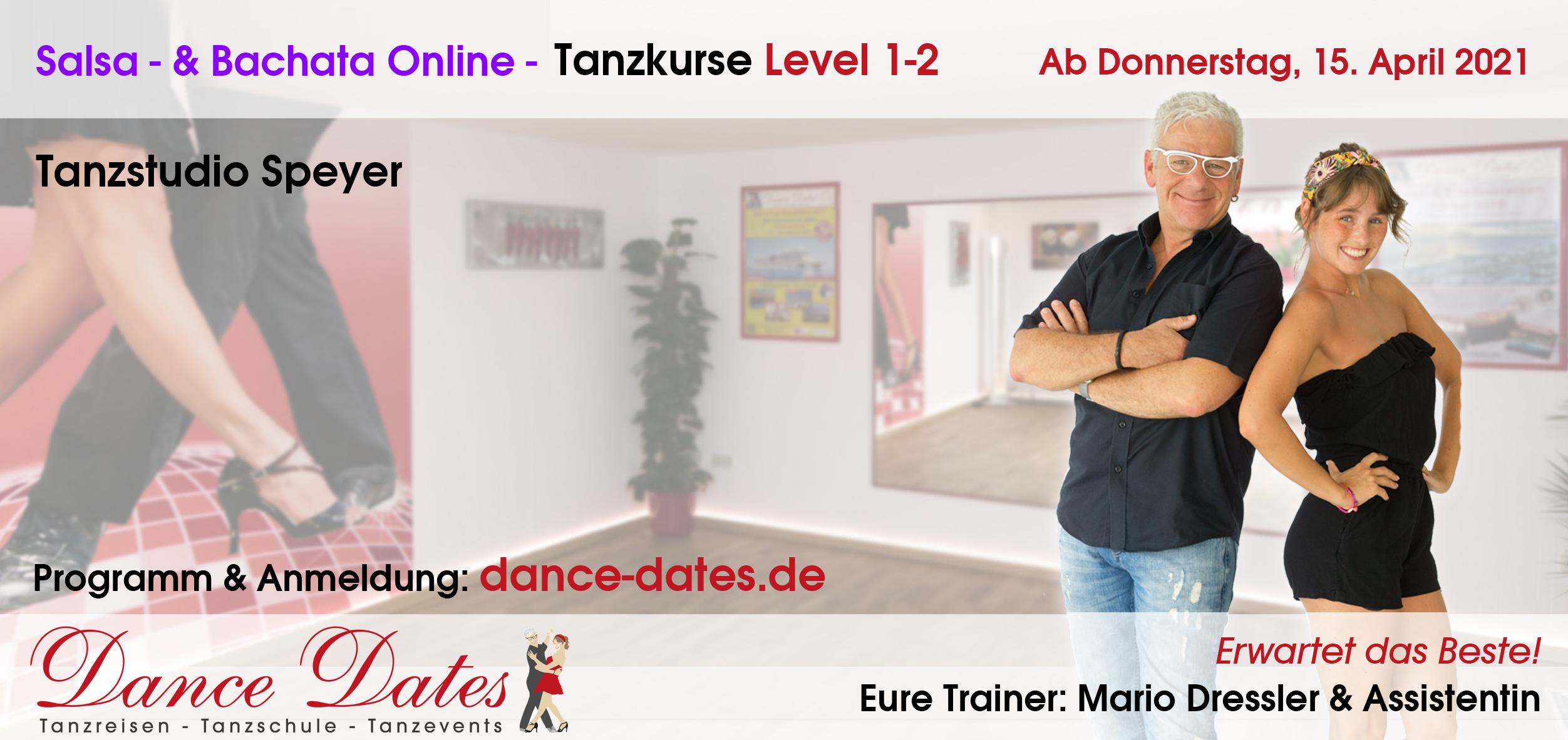 START: ONLINE-Salsa- & Bachata-Tanzkurse aus Speyer