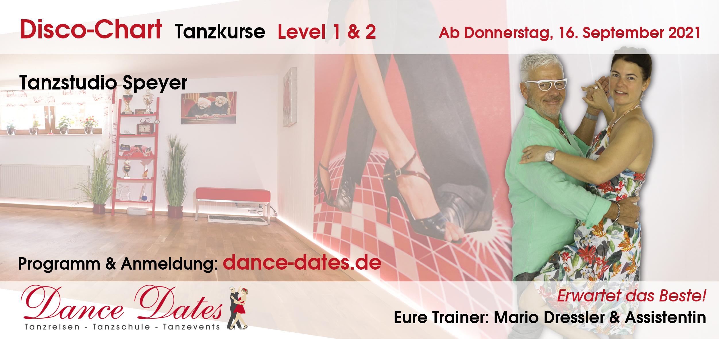 START: Disco-Chart-Tanzkurse in der Tanzschule Speyer