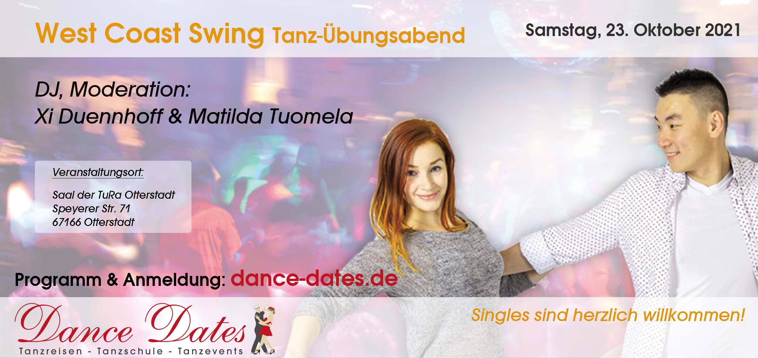 West Coast Swing Tanz-Übungsabend in Otterstadt