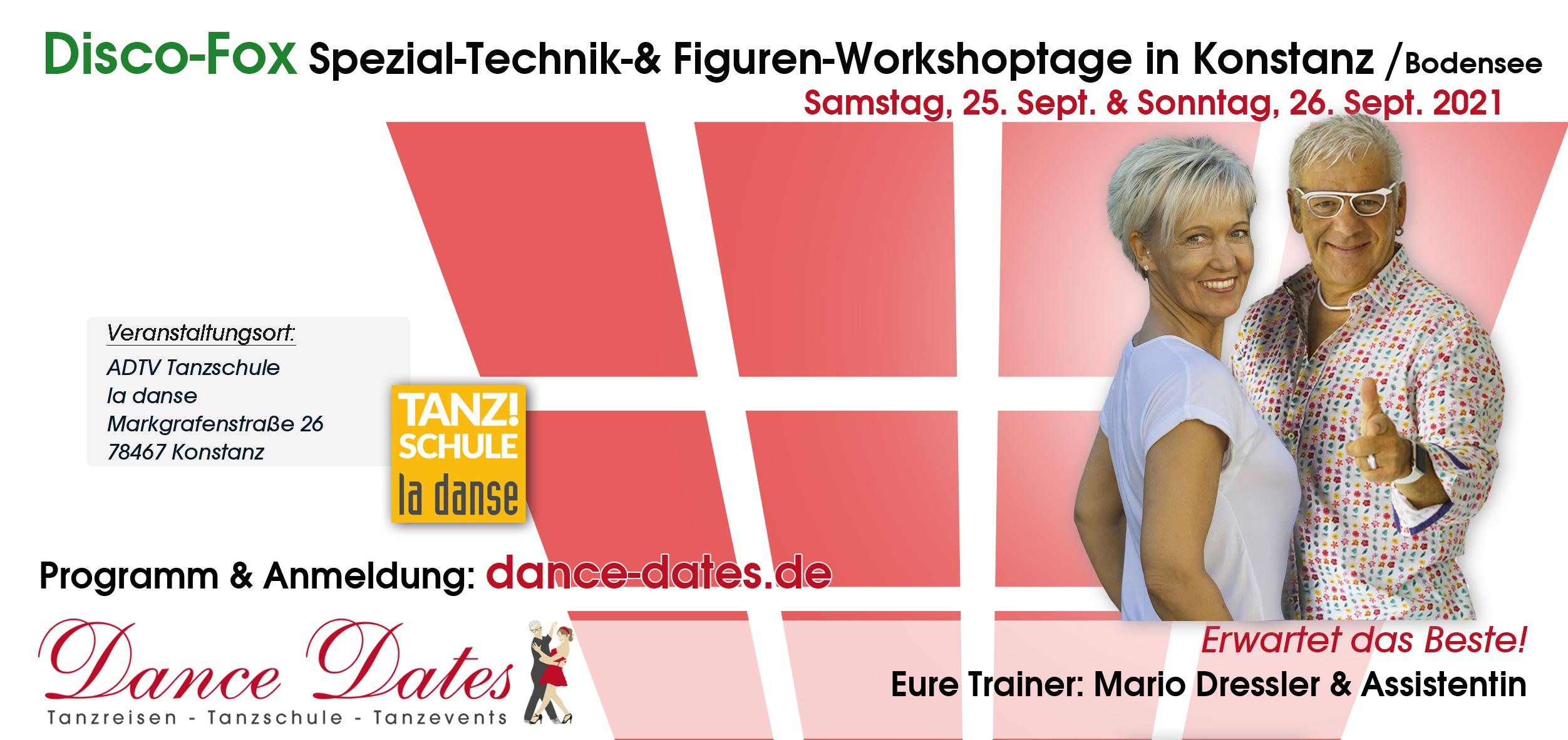 Disco Fox Special Technik & Figuren Workshop Tage in Konstanz am Bodensee